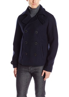 A|X Armani Exchange Men's Woven Double Breasted Jacket