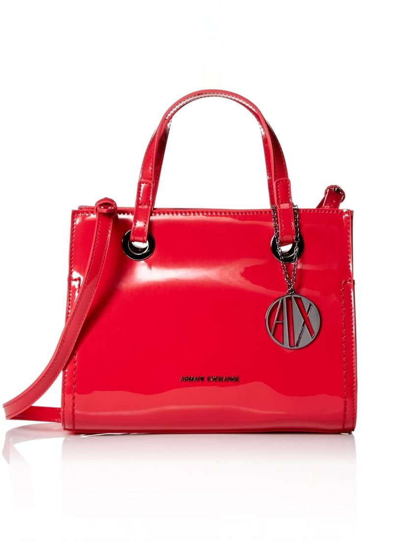 A|X Armani Exchange Mini Patent Shopping Bag