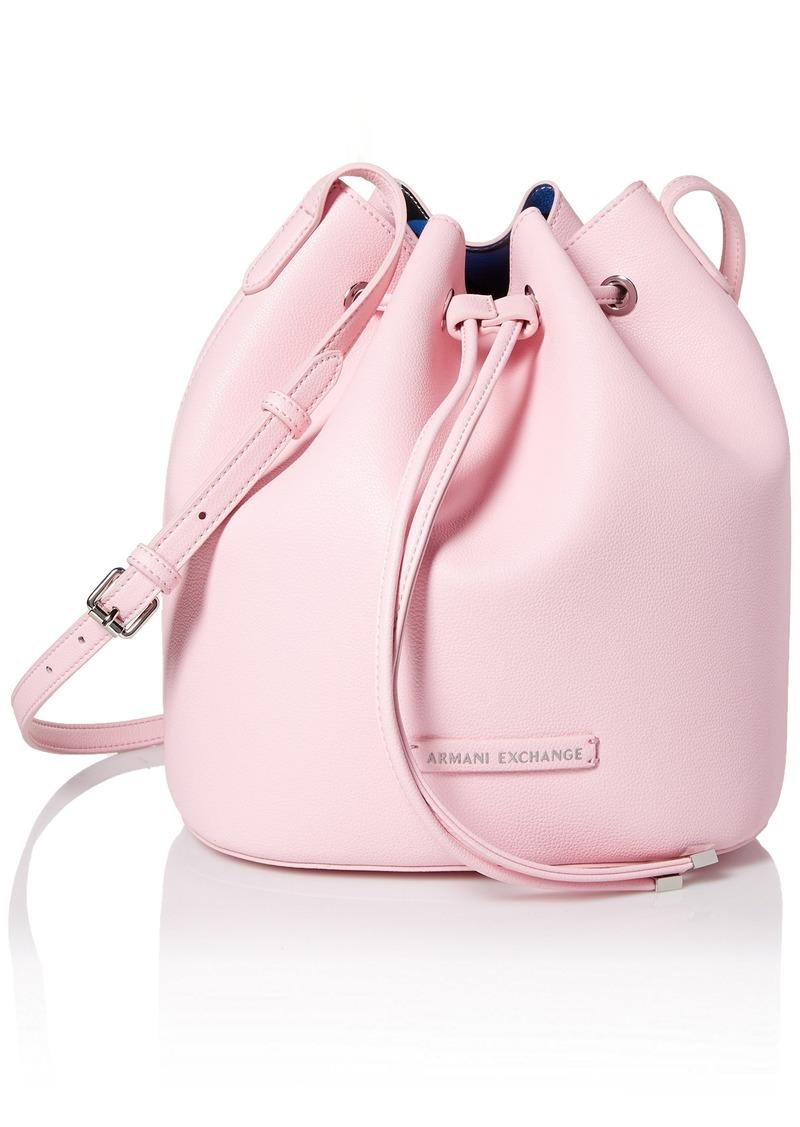 A|X Armani Exchange Printed Bucket Bag