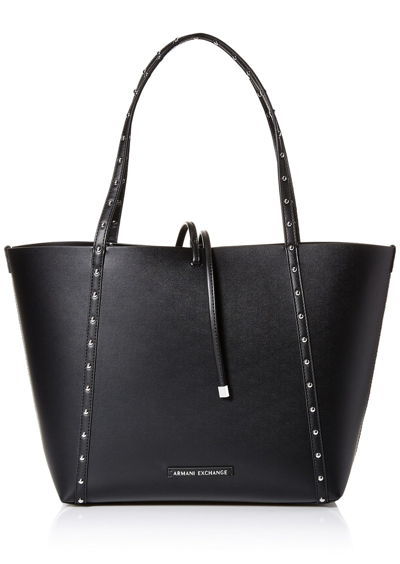A|X Armani Exchange Studded Reversible Shopping Tote Bag