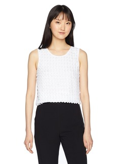 A|X Armani Exchange Women's 3-D Polka Dot Tank  S