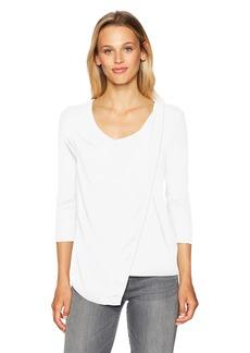 A|X Armani Exchange Women's 3/4 Sleeve Modal Stretch Blouse  XS