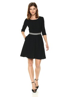 A|X Armani Exchange Women's 3/4 Sleeve Waistband Dress