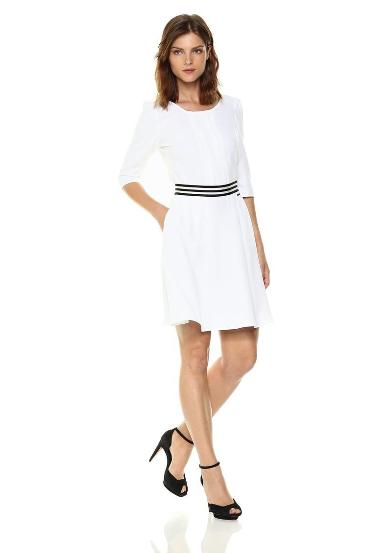 A|X Armani Exchange Women's 3/4 Sleeve Waistband Dress