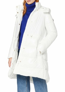 A X Armani Exchange Women's Alternative Down Snap Closure Coat  XS