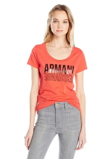 A|X Armani Exchange Women's Armani Egnahcxe Scoop Neck Jersey T-Shirt