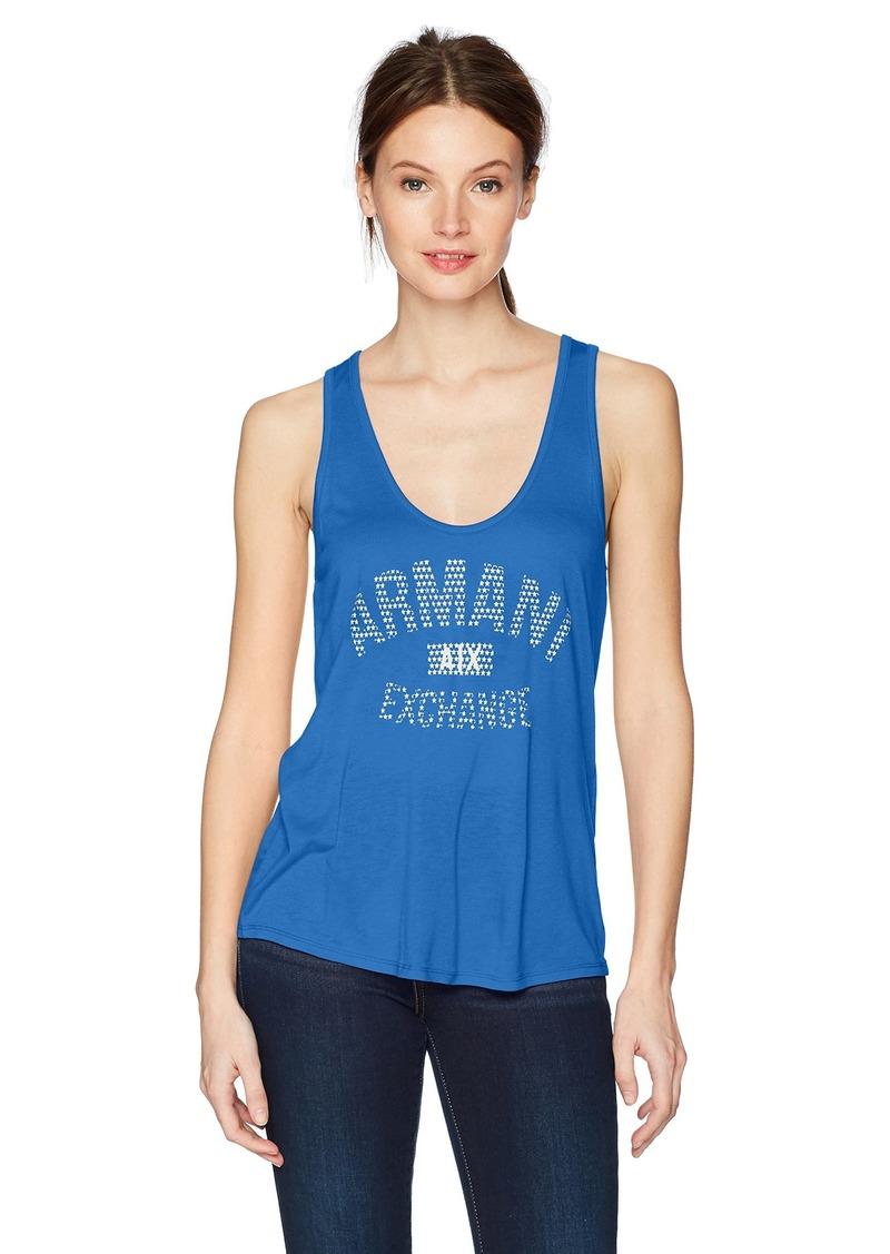 A|X Armani Exchange Women's Armani Exchange Logo Tank  XL