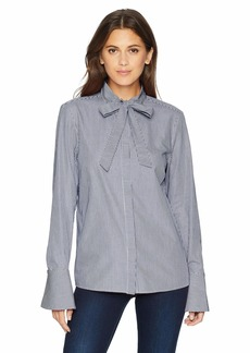 A|X Armani Exchange Women's Ascot Tie Blouse  M