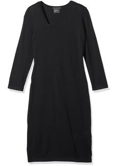A|X Armani Exchange Women's Asymmetrical Neck Long Sleeve Dress