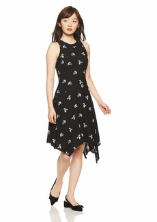 A|X Armani Exchange Women's Asymmetrical Print Dress