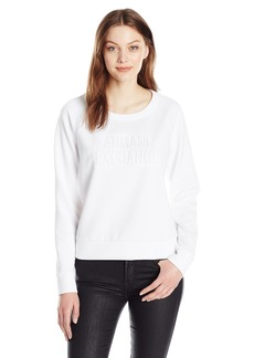 A|X Armani Exchange Women's Ax Scoop Neck Long Sleeve Super Soft Sweatshirt