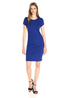A|X Armani Exchange Women's Basic Crew Neck Short Sleeve Above The Knee Dress