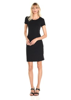 A|X Armani Exchange Women's Basic Crew Neck Short Sleeve above the Knee Dress  XL