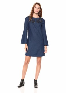 A|X Armani Exchange Women's Bell Sleeve Dress