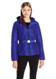 A|X Armani Exchange Women's Belted Puffer Coat