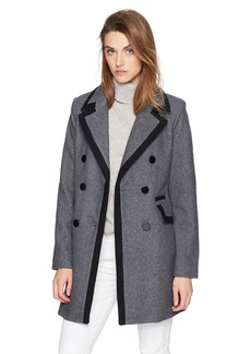 A|X Armani Exchange Women's Bi-Color Peacoat  S