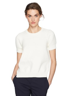 A|X Armani Exchange Women's Bulky Short Sleeve Pullover Sweater  L