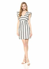 A|X Armani Exchange Women's Butterfly Sleeve Striped Dress Black/Martin