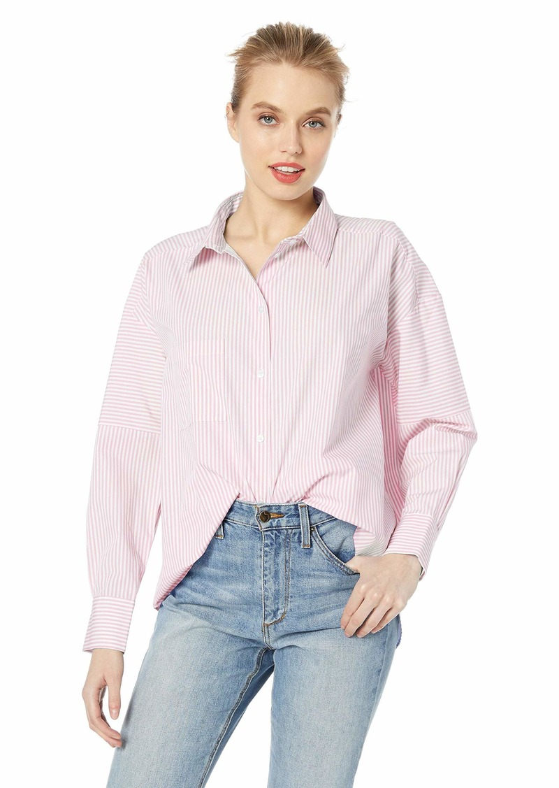 A|X Armani Exchange Women's Button-Up Shirt with Pocket  L