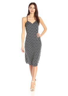 A|X Armani Exchange Women's Cami V Neck Midi Printed Woven Dress