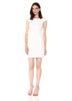 A|X Armani Exchange Women's Cap Sleeve Mesh Cutout Dress