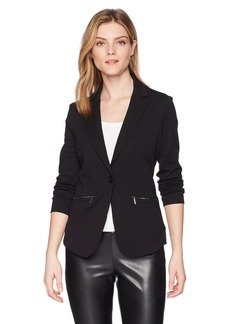 A|X Armani Exchange Women's Casual Blazer with Hood  L