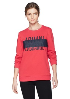 A|X Armani Exchange Women's Center Stripe Logo Sweatshirt  M