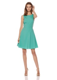A|X Armani Exchange Women's Classic a-Line Solid Dress