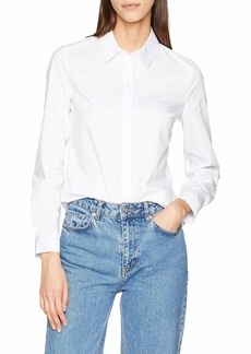 A|X Armani Exchange Women's Classic Button Down Shirt  L