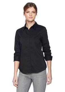 A|X Armani Exchange Women's Classic Polo with 4 Buttons and Logo Icon Beneath Collar  L