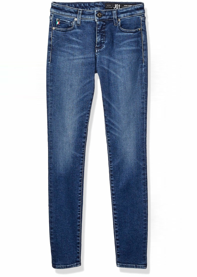 A|X Armani Exchange Women's Classic Skinny Fit Five Pocket Denim Jeans Indigo