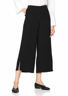A X Armani Exchange Women's Classic Wide Legged Cropped Trouser  M
