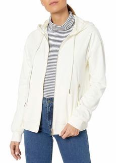 A|X Armani Exchange Women's Classic Zip Up Form Fitting Sweatshirt  S
