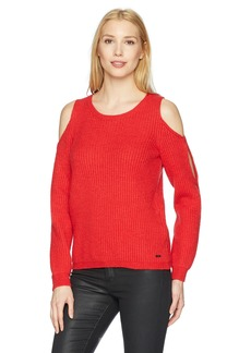 A|X Armani Exchange Women's Cold-Shoulder Pullover Sweater  S