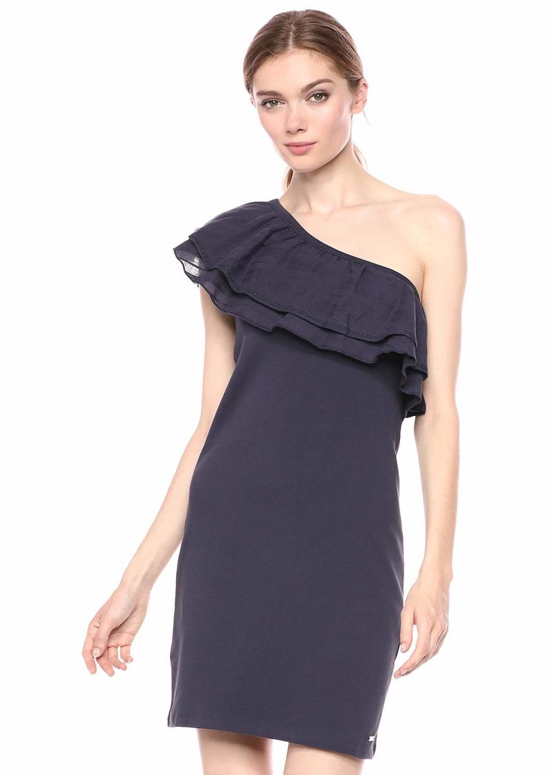 A|X Armani Exchange Women's Cold-Shoulder Ruffle Dress  L
