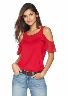 A|X Armani Exchange Women's Cold Shoulder Top  S