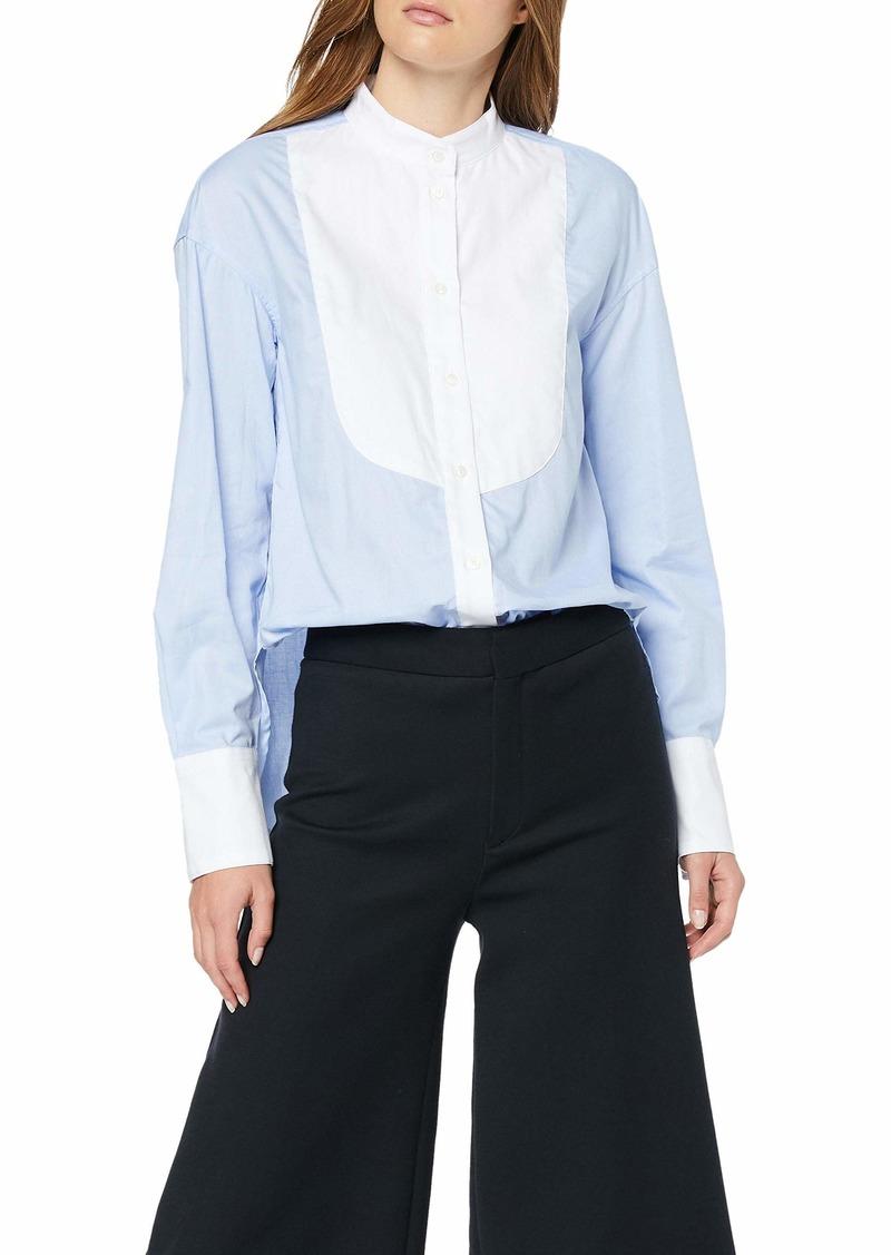 A|X Armani Exchange Women's Color Blocked Button Down Shirt  XL