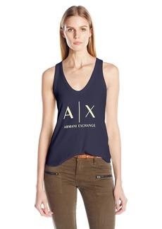 A|X Armani Exchange Women's Core Logo Tank Top