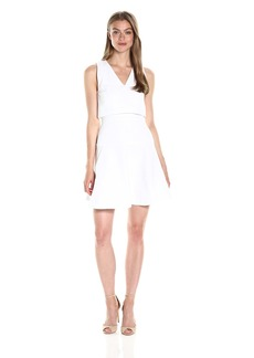 A|X Armani Exchange Women's Cotton Dobby Fit and Flare Dress