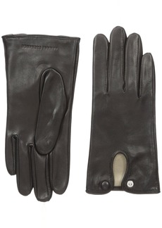 A|X Armani Exchange Women's Covered Snap Leather Gloves  Medium/Large