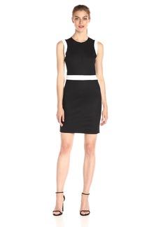 A|X Armani Exchange Women's Crew Neck Color Block Mini Dress