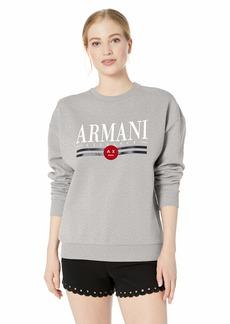 A X Armani Exchange Women's Crew Neck Logo Sweatshirt  L