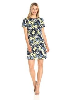 A|X Armani Exchange Women's Crew Neck Short Sleeve Printed Dress