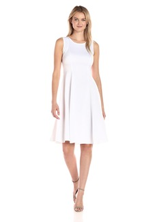 A|X Armani Exchange Women's Crew Neck Sleeveless Above The Knee Dress