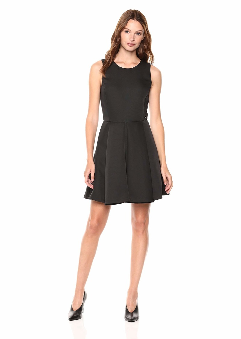 A|X Armani Exchange Women's Crew Neck Sleeveless Flare Dress