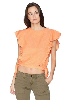 A|X Armani Exchange Women's Crop Ruffle Top  M