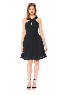 A|X Armani Exchange Women's Cross Collar a-Line Party Dress  M