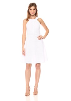 A|X Armani Exchange Women's Cross Collar a-Line Party Dress  M