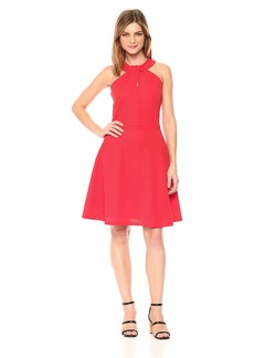 A|X Armani Exchange Women's Cross Collar a-Line Party Dress  S