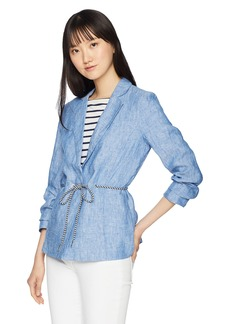 A|X Armani Exchange Women's Denim Blazer Style Jacket
